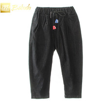 New children all-match jeans  3-8 years old boy elastic waist pants