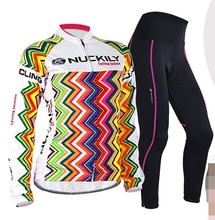 2016 female sports cycling clothing winter warm cashmere Jersey team sport shirt outdoor riding women's clothes XS-3XL