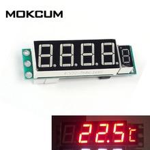 Красный DS18B20 DC 6-15 в цифровой дисплей модуль термометра светочувствительный модуль управления бытовой контроль температуры