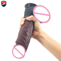 MLSice Lifelikeness Real Men Penis Silicone Dick Sex Toys Realistic Cock with Suction Cup for Woman Penis Sex Machine Accessory