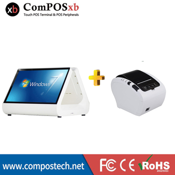 Restaurant Cash Register 12 Inch Touch Screen POS Point Of Sale Payment Terminal With 80 Thermal Printer