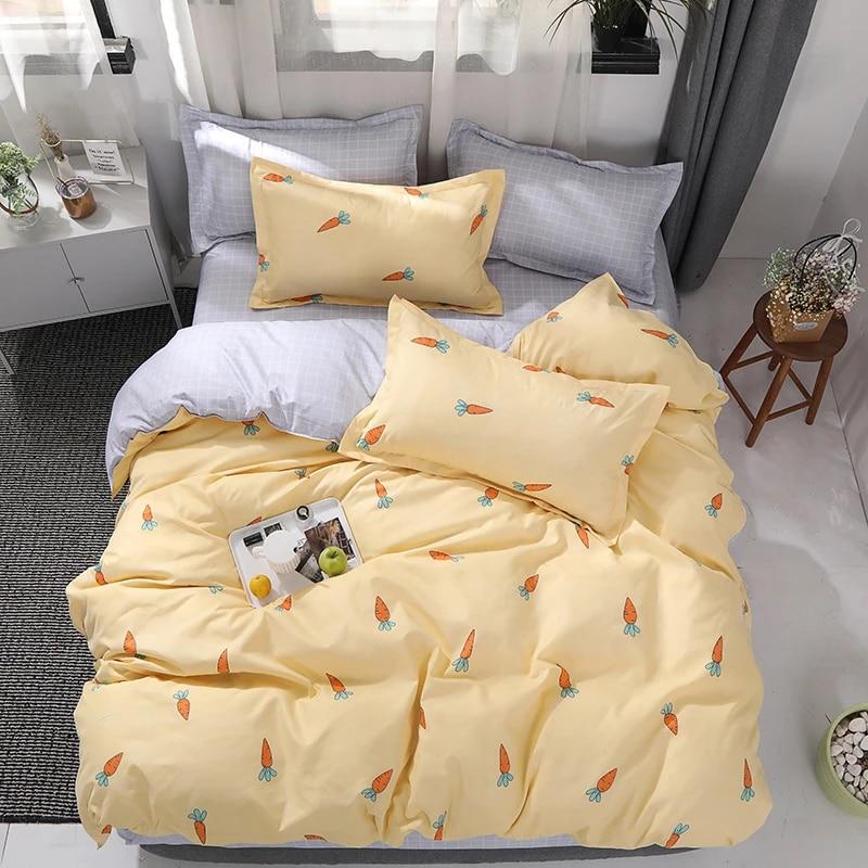 best wensd bedding set king size bedlinen set carrot bedding winter bedsheets duvet cover sets zipper quilt cover pillow case