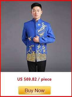 chinese traditional man blue tops bridegroom tangzhuang jacket embroidery (9)