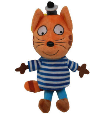 20/25 см с рисунком «Счастливый Кот», мальчика из трех котят Мягкие плюшевые игрушки Мягкий Животные кошка игрушка кукла детская брелок Рождественский подарок - Цвет: C