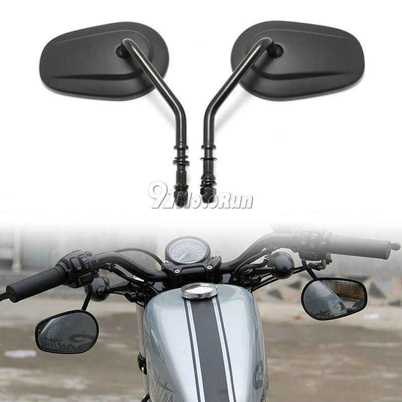 Chrome Blade Rearview Mirrors for Harley Davidson Cruiser Chopper Custom Touring