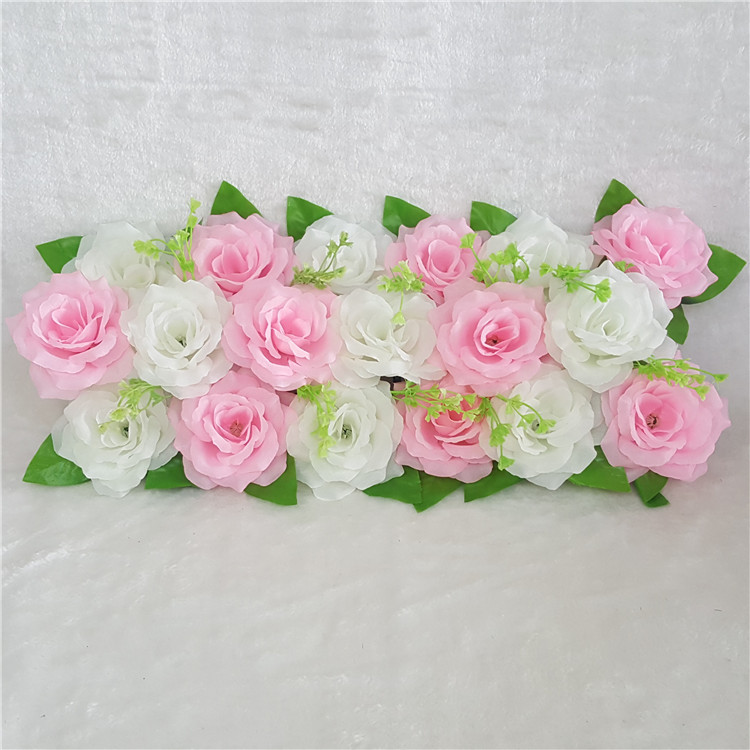 2pc 50cm Road cited artificial flowers row wedding decor flower wall arched door shop Flower Row Window T station Christmas