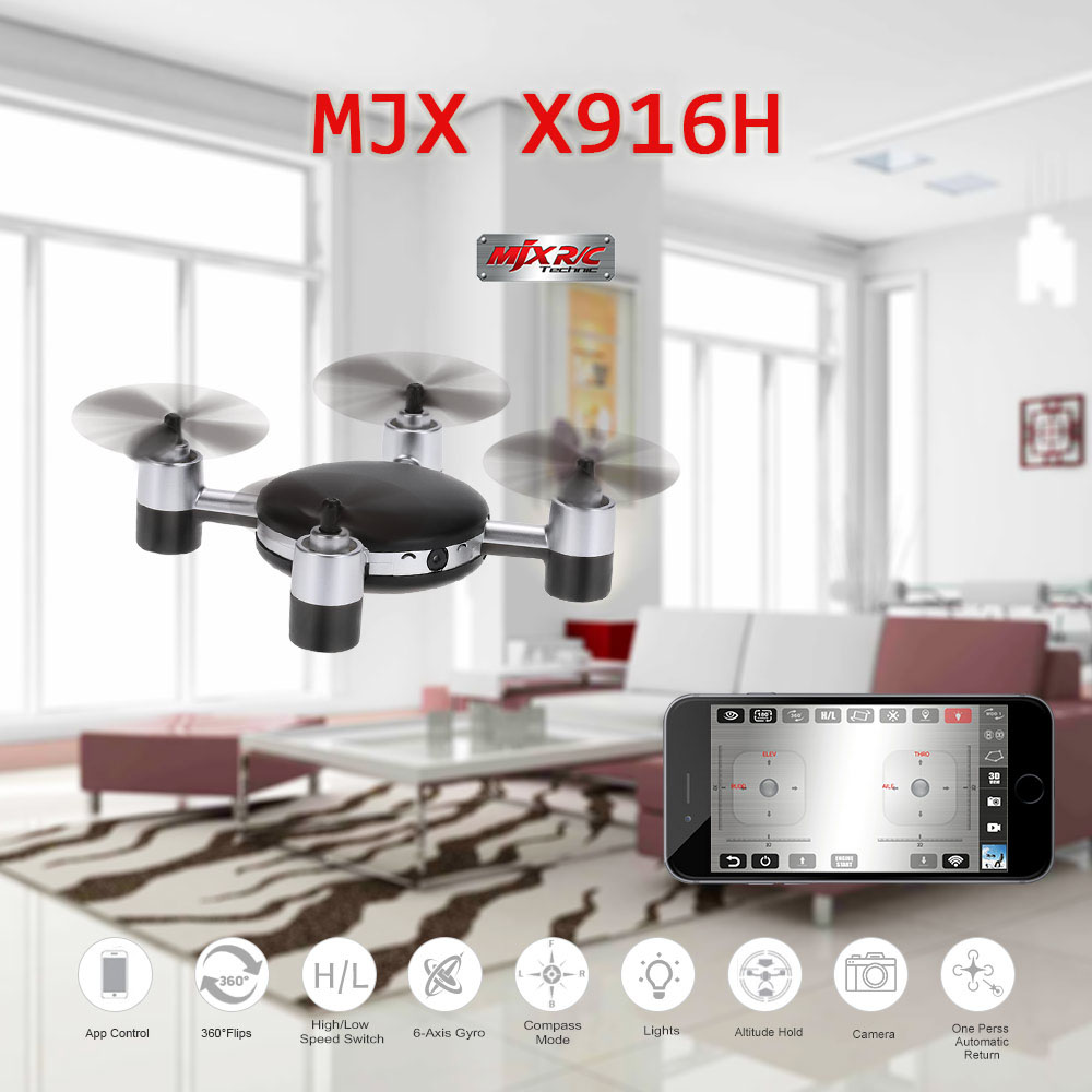 ФОТО MJX X916H Wifi FPV APP Control Mini RC Quadcopter Helicopter with 720P HD Camera 2.4GHz Real-time Iphone Control RC Drones
