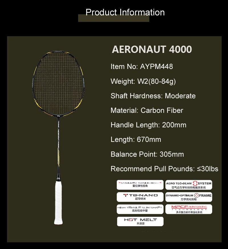 Li-Ning Aeronaut 4000 badminton rackets