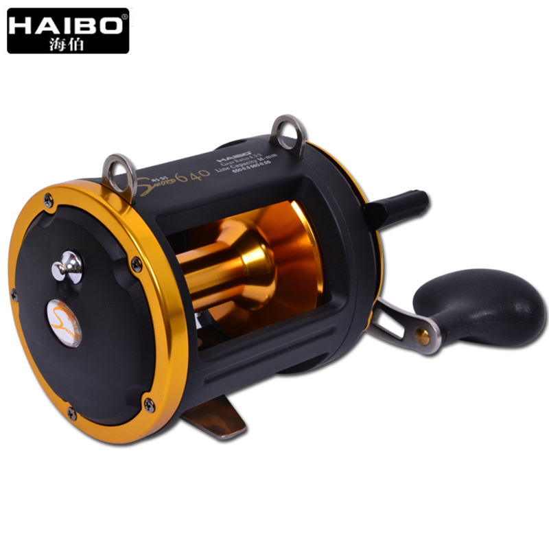 HAIBO 4.3:1 6BB Trolling Fishing ReelsLong Casting Jigging Reel  BIG GAME REEL Gigging Reel For Deep Sea Fishing 1 65m 1 8m high carbon jigging rod 150 250g boat trolling fishing rod big game rods full metal reel seat sic guides eva handle