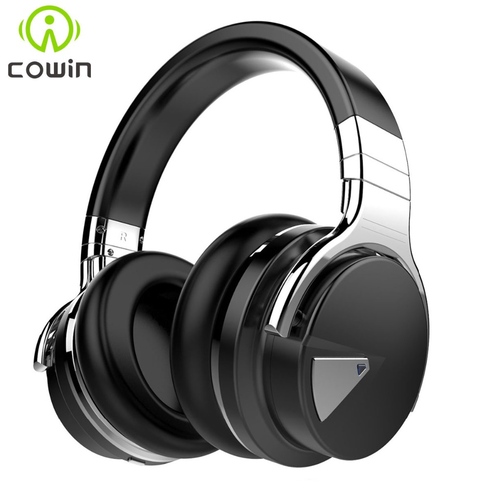 Cowin E-7 Active Noise Cancelling Wireless Bluetooth Headphones Deep bass Stereo Bluetooth Headset with Microphone for phone niub5 active noise cancelling bluetooth headphones with wireless stereo headset deep bass headphones with microphone for phone