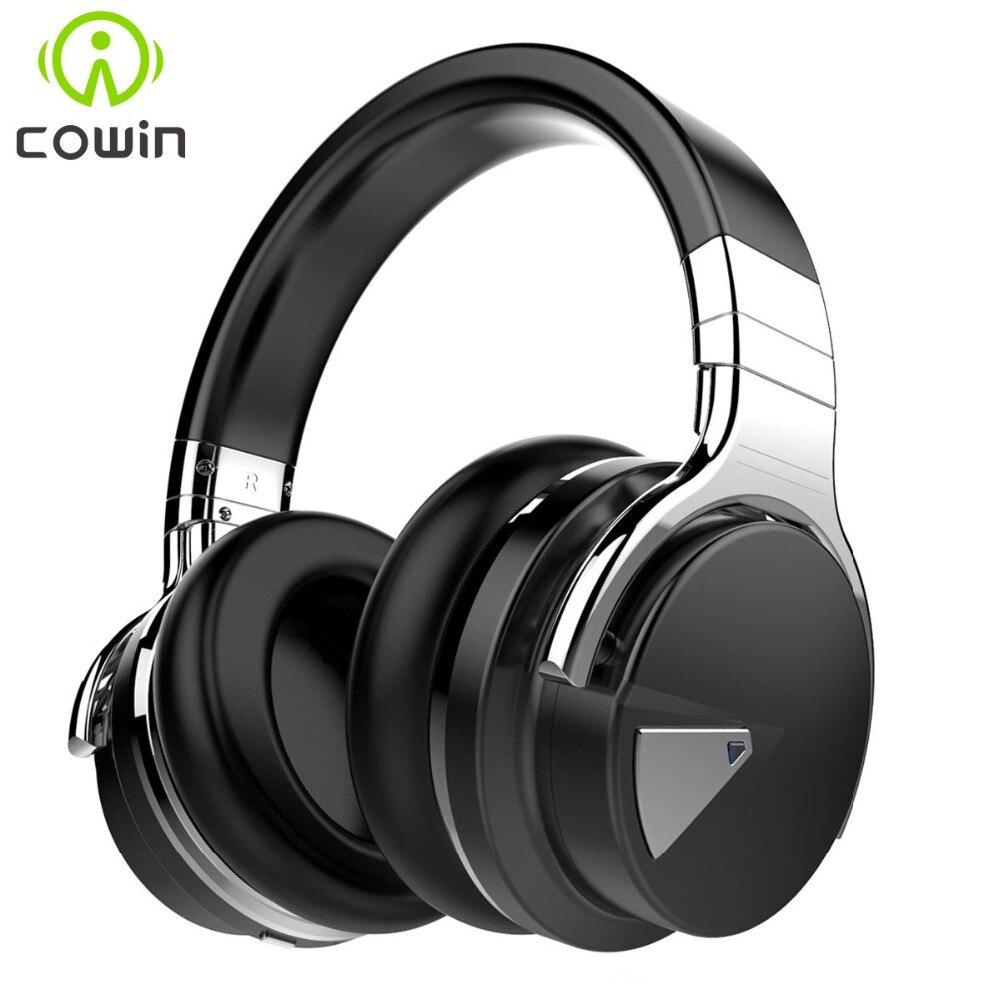Cowin E-7 Active Noise Cancelling Bluetooth Casque Sans Fil Casque Deep bass Casque stéréo avec Microphone pour téléphone