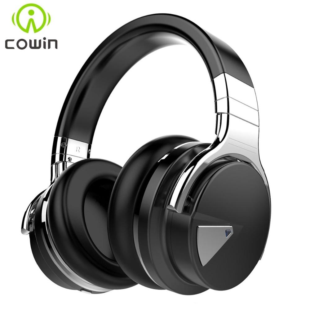 Cowin e-7 activo de cancelación de ruido auriculares bluetooth inalámbrico estéreo auricular bluetooth con micrófono auriculares graves profundos para el teléfono