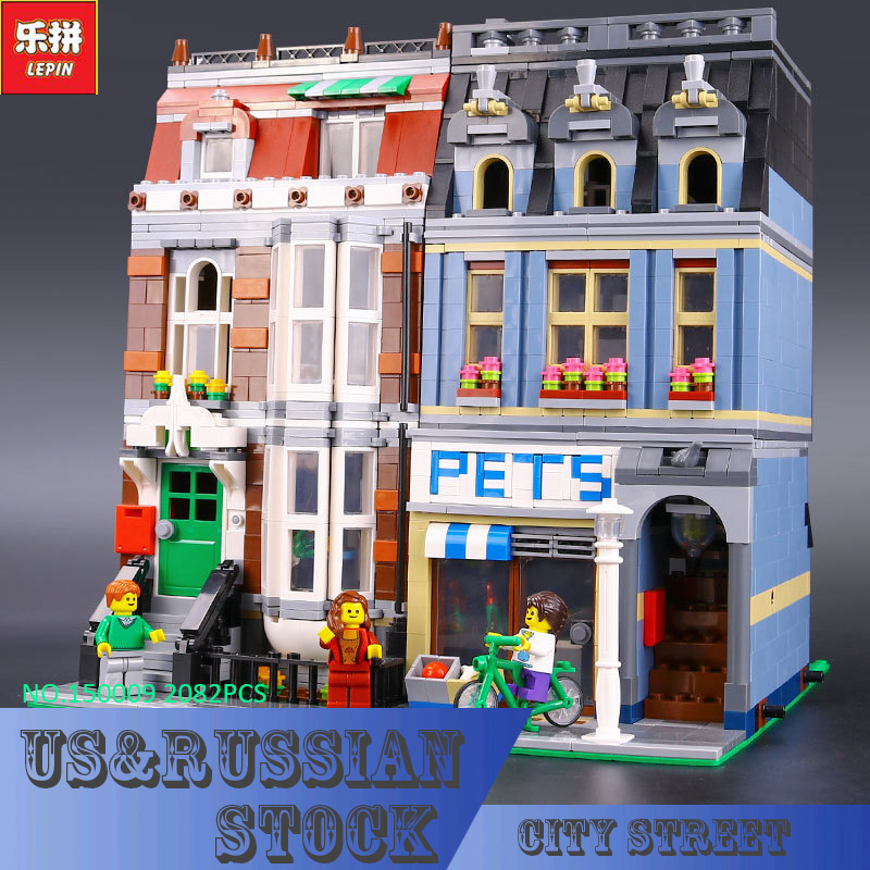 LEPIN 15009 Pet Shop Supermarket Model City Street Building Blocks Compatible 10218 Toys For Children lepin 15009 city street pet shop model building kid blocks bricks assembling toys compatible 10218 educational toy funny gift