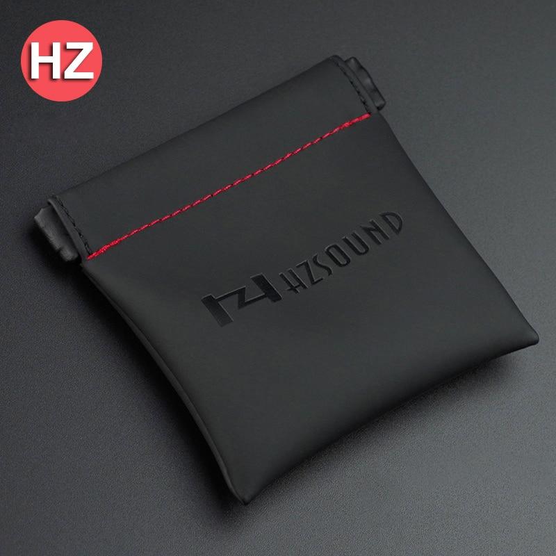 Original HZ HZSOUND PU Leather Earphone Case Accessories PU Leather Earphone Case Portable Bag Headphone Accessories Case