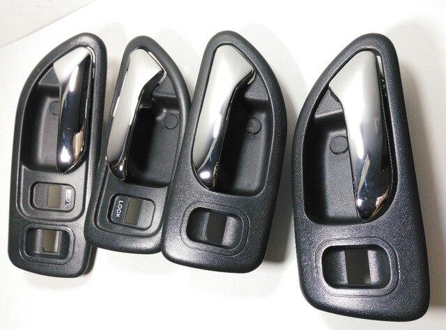 4 Pcs Black Car Door Inside Handle For 1994 1995 1996 1997 Honda Accord  Internal Buckle