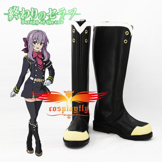 Seraph of the End Yuichiro Hyakuya Shinoa Hiragi Cosplay Shoes Boots Custom  Made Adult Halloween Carnival