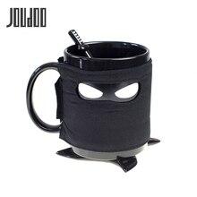 JOUDOO Creative Ninja Mug,Black Mask Ceramic Cup With Spoon Sword Coffee Milk Tea Mugs 35