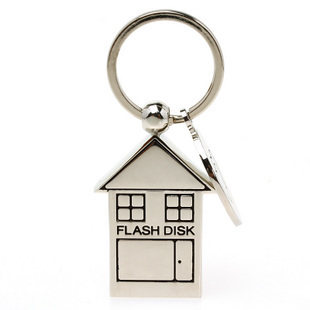 Cute Metal House Shape USB Flash Drive 32GB Usb Memory Stick Usb Stick Key 64GB Pendrive 16GB 128GB Pen Drive 512GB 2.0 Gift