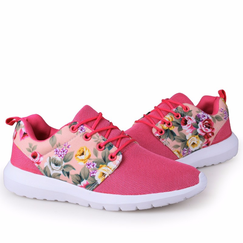 KUYUPP Fashion Breathable Print Flower Women Trainers Casual Shoes 2016 Summer Mesh Low Top Shoes Zapatillas Deportivas YD95 (57)