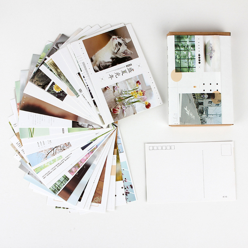 30 Pcs/Set Summer Scenery Series Postcard/Greeting Card/Message Card/Birthday Letter Envelope Gift Card Two Sizes
