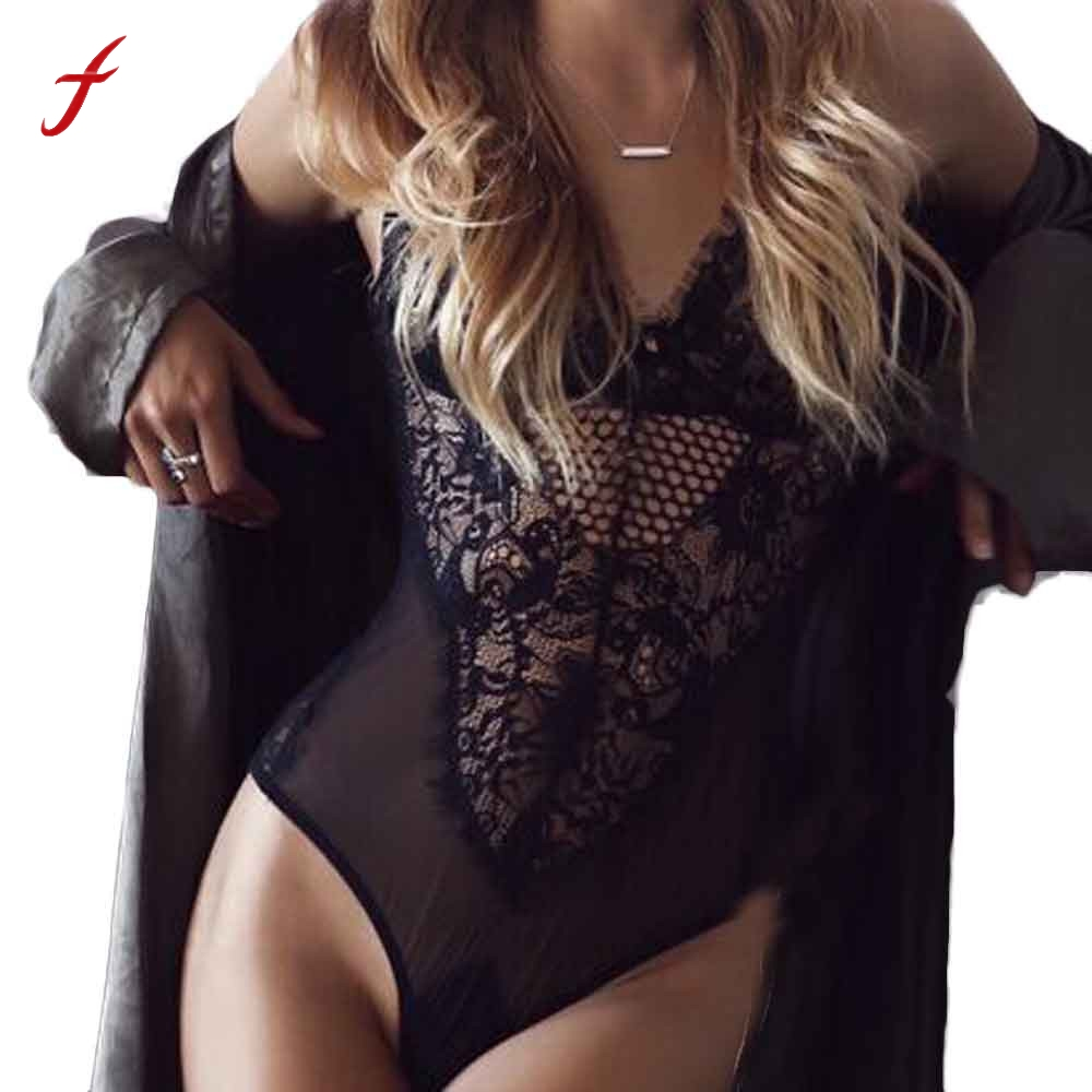 Summer Lace Bodysuit Beach Fashion Women Sexy Backless club Jumpsuit 2017 Sleeveless Skinny V neck Hollow out Jumpsuit Overalls