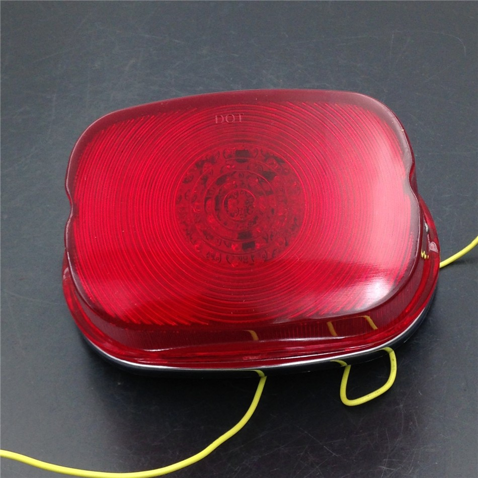 Aftermarket free shipping motorcycle parts LED RED Tail Light Collar cover for Harle XL FLSTF Touring models FLHRC FLHTC motorcycle tail tidy fender eliminator registration license plate holder bracket led light for ducati panigale 899 free shipping