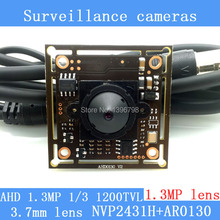 "1.3MP AHD AR0130 CCTV 960P mini night vision Camera Module 1/3 ""HD 1.3MP 3.7mm lens surveillance camera"