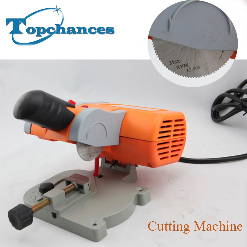 High Quality New Cutting Machine high speed Bench Cut-off Saw Steel Blade for cutting Metal Wood Plastic with Adjust Miter Gauge 10 80 teeth t8a high carbon steel saw blade for expensive wood free shipping nwc108ht12 250mm super thin 1 2mm cut disk