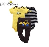 Baby Boy Girl Bodysuits Striped Bebes Clothes 3PCS Infant Body Cute Cotton Fleece Clothing Newborn Clothes