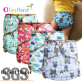 Elinfant reusable bamboo hybird waterproof fitted baby cloth diaper nappy fit 3-15kg 0-2 years #SMT015#