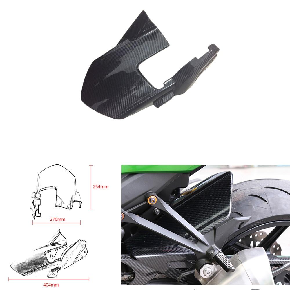 Twill Carbon Fiber Rear Splash Guard Cover Hugger Mudguard Fairing for Z1000 10 17 Z 1000