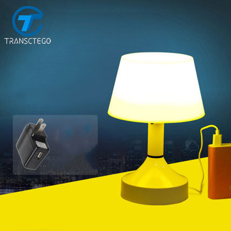 desk lamp USB Charge a small table night lamps voice sound control lights rechargeable nightlight