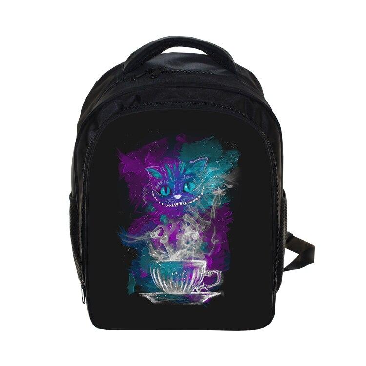 Cartoon Cheshire Cat Backpack School Bag Book Bag Kids Boys Girls School  Backpack Children Primary Kindergarten School Bags b960973179023