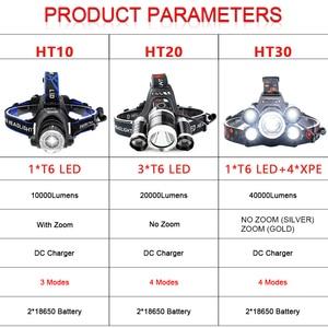 Image 5 - 7000LM ヘッドランプ Led ヘッドライトの Xml 3/5 LED T6 ヘッドランプ懐中電灯トーチヘッドライト 18650 バッテリーのための最高のキャンプ、釣り