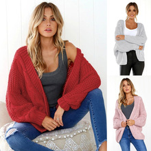 S-XL autumn winter women long bat sleeve sweater casual leisure womens sweaters cardigan loose brand