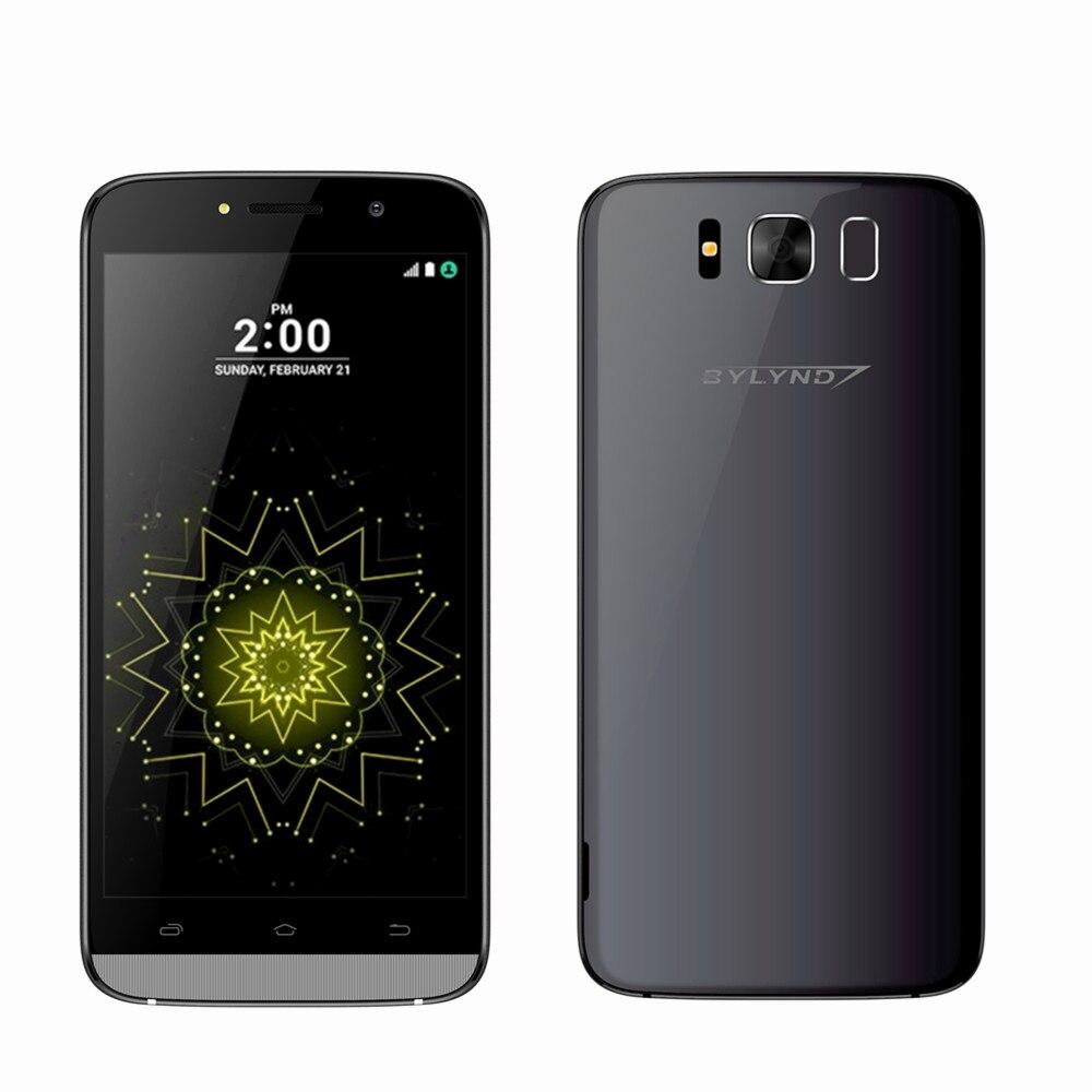 Barato celular BYLYND X9 3G Smartphones 5.5 MTK Quad Core 8 GB ROM Android 6.0 Do Telefone Móvel caso livre frontal de 5MP câmera de luz de preenchimento