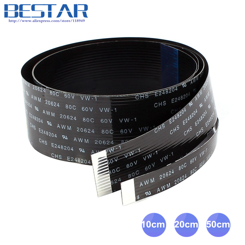HDMI FPV 10 cm 20 cm 30 cm 50 cm 80 cm 100 cm FPC Ruban Plat câble 0.5mm 20pin pour HDMI HDTV FPV Multicopter Photographie Aérienne