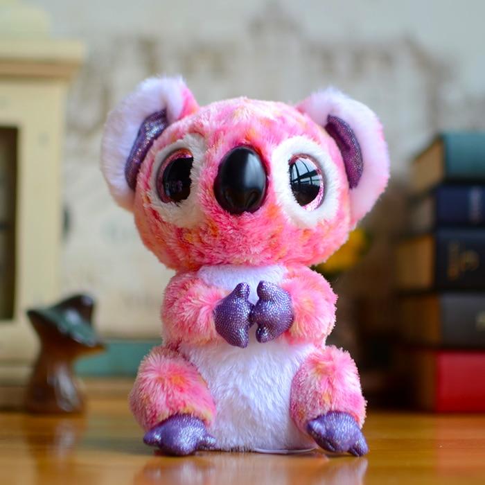 Original Ty Collection Pink Koala Big Eyes Beanie Boos Kids Plush ...