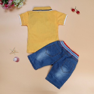 Image 5 - Baby Boy Jean Clothes Sets Children Polo Shirt + Short Jean Suit Boys Outfits Kids Clothing Casual Infant Clothing Pant 2 7Year