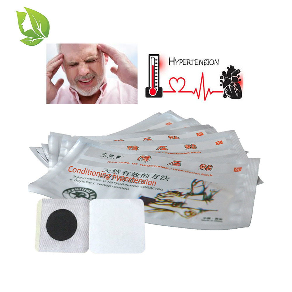 10Pcs Anti Hypertension Treatment Patch Headache Head Pain Relief Chinese Medicine Control Lower Blood Pressure Medical Plaster