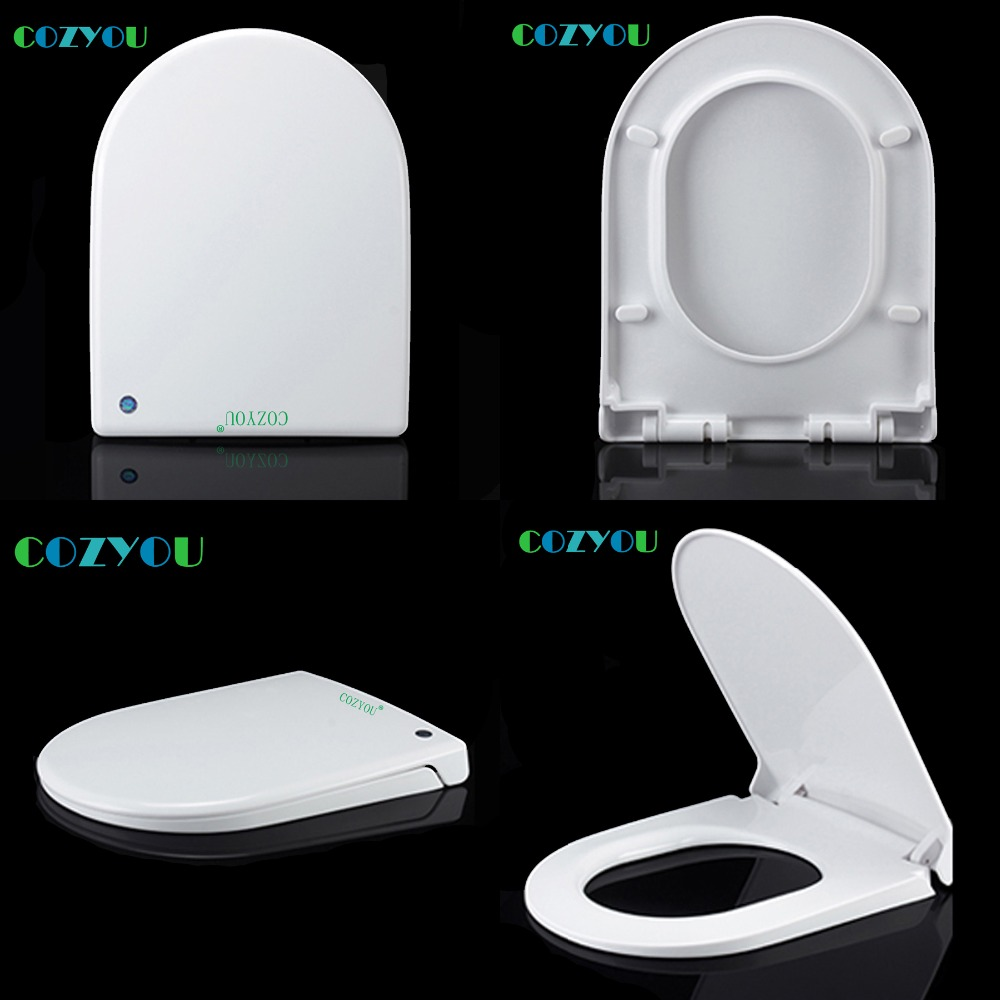 Toilet seat set soft close PP board elongated U type Quick Release Easy installation Clean Change Hinges length 440 to 490mm сковорода vitesse vs 2283