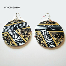 Bohemia Natural Wood Africa Irregular Eye Of Horus Nefertiti Egypt Tribal Earrings Vintage Afro Wooden African Hiphop Jewelry
