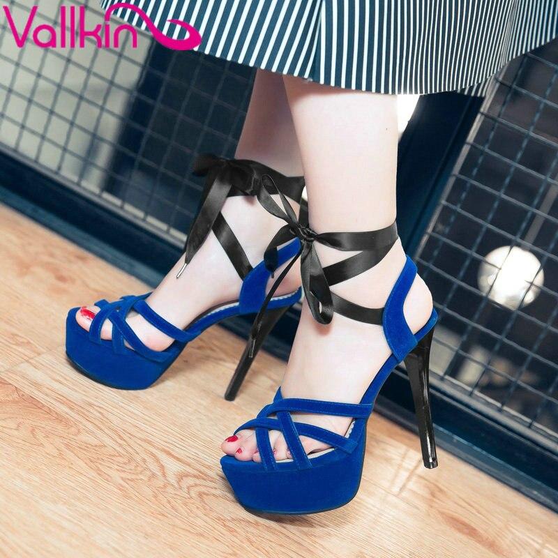 ФОТО VALLKIN 2017 Platform Thin Heel Spring Summer Shoes All Match Women Pumps High Heel Party Peep Toe Woman Shoes Size 34-43