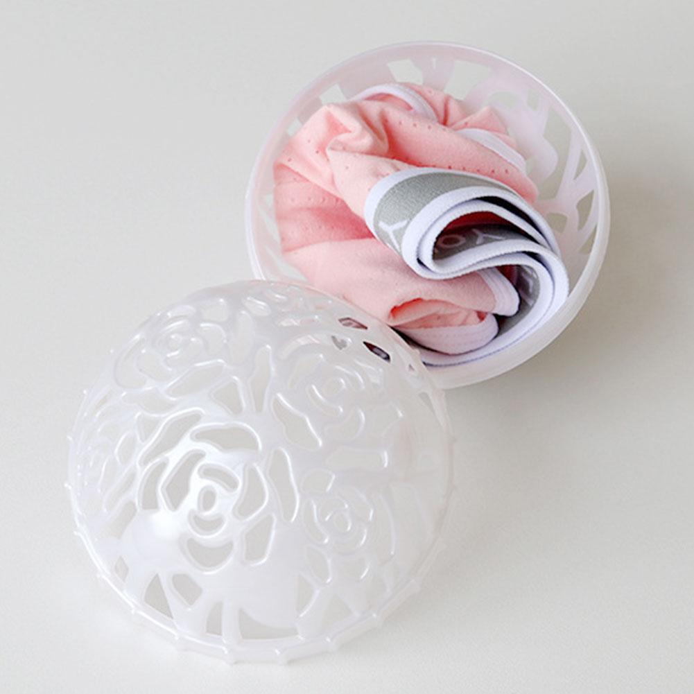Белый бюстгальтер, моющий мяч для уборки, антисептический инструмент для чистки, нижнее белье одежда стиральная машина контейнер для стирки бюстгальтера, практичный