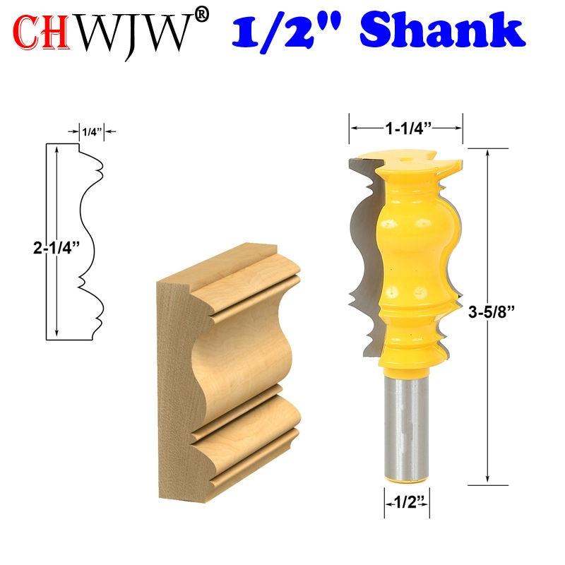 """1pc 1/2 """"Gambo Corona Router Stampo Linea di punte Coltello Taglierina per legno Taglierina per tenone per utensili per la lavorazione del legno"""