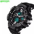 SANDA Brand 2016 New Fashion casual Wristwatch Men Sports Military Watches Shock Men Luxury Analog Quartz Led Digital Watch