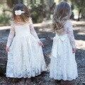 Производители Питания Euramerican детская Одежда Осень Кружева С Длинными Рукавами Девушки 2-7 Лет Платье Принцессы Детская Одежда
