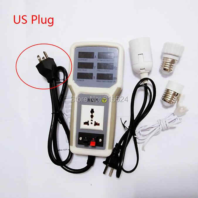 EU/AU/UK/US Plug HP-9800 Handheld Power Monitor Energy Meter Analyzer HP9800 20A LED spaarlampen Tester Socket Power Meter