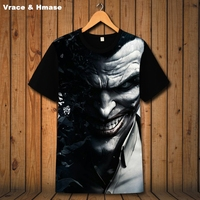 American style personality creative 3D printing fashion short sleeve t shirt Summer 2018 New arrival quality hip hop t shirt men