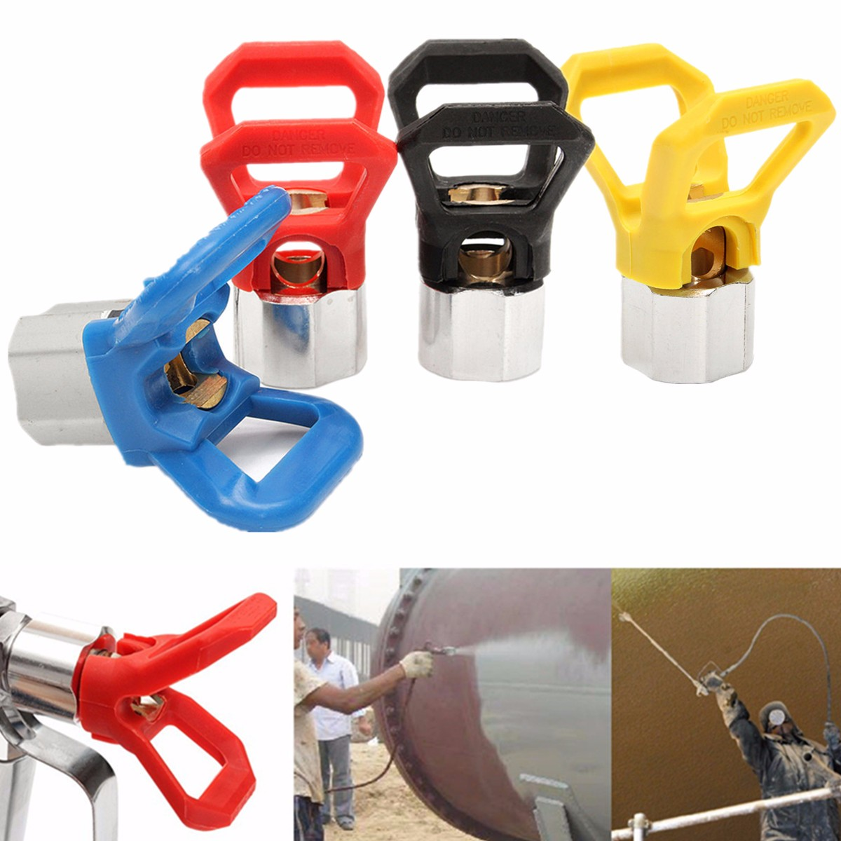 Airless Paint Contractor Flat Tip Spray Tip Guard Nozzles For Airless Spray G Un And Paint Sprayer